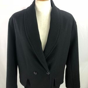 Ann Taylor Studio Womens Black Wool Blend Jacket S